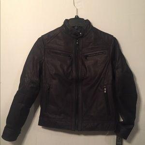 Micheal Kors Washed Nubuck Jacket